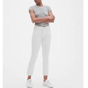 NWT Gap Mid Rise Crop Kick Jeans 28 White c268